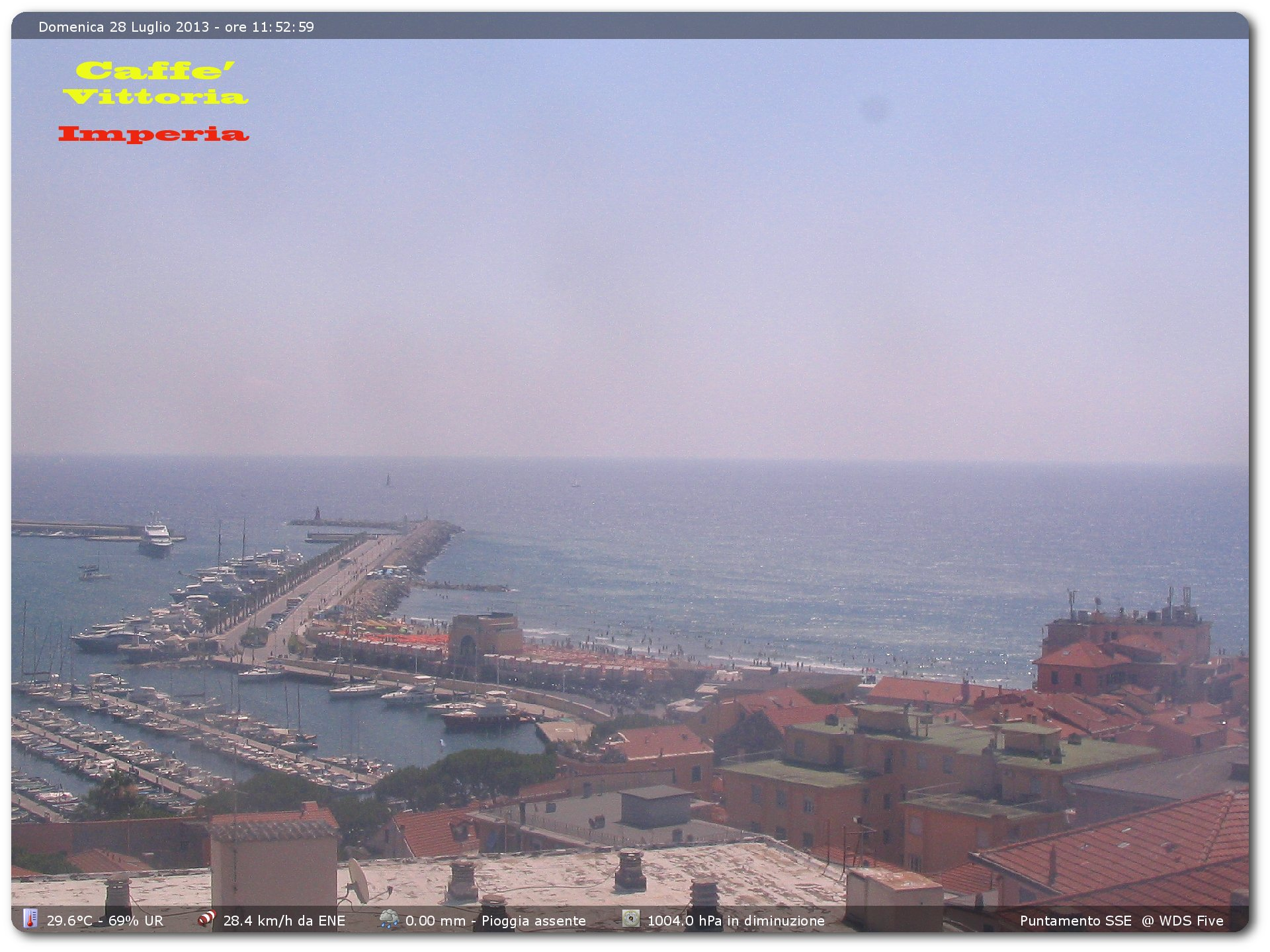 Imperia webcam - Caffe Vittoria Imperia webcam, Liguria, Imperia
